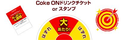 Coke ONドリンクチケット or スタンプ